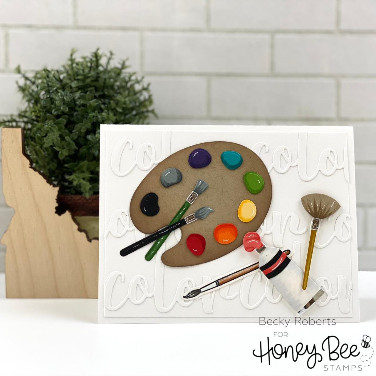 Color, Honey Bee Clear Stamps -