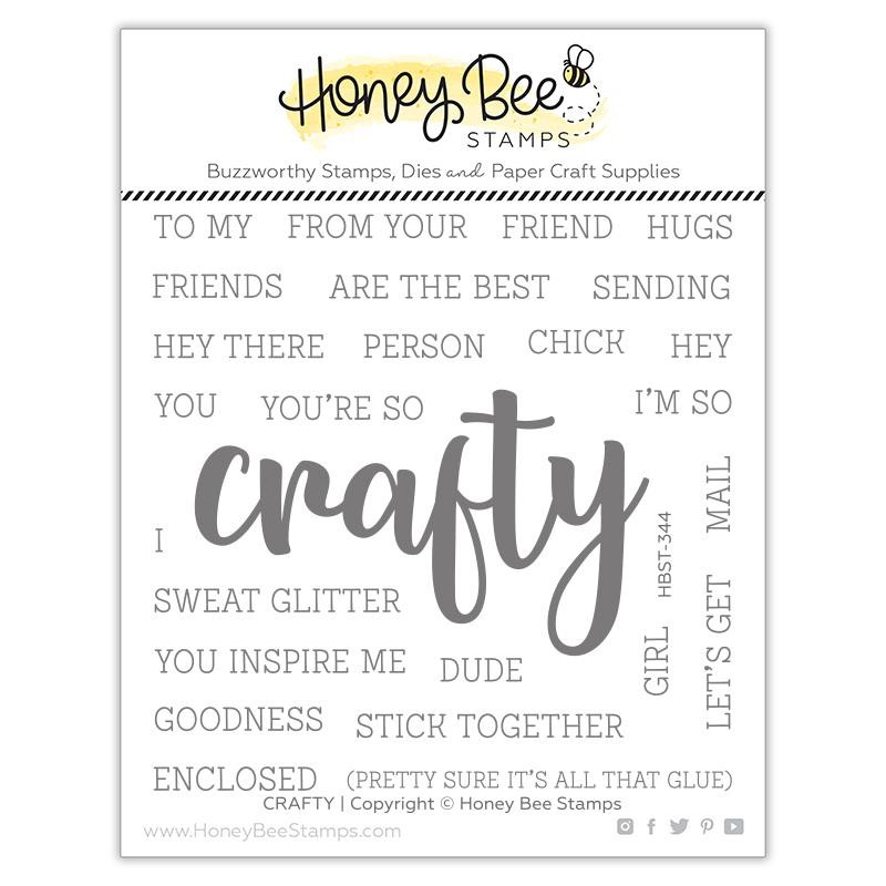 Crafty, Honey Bee Clear Stamps -
