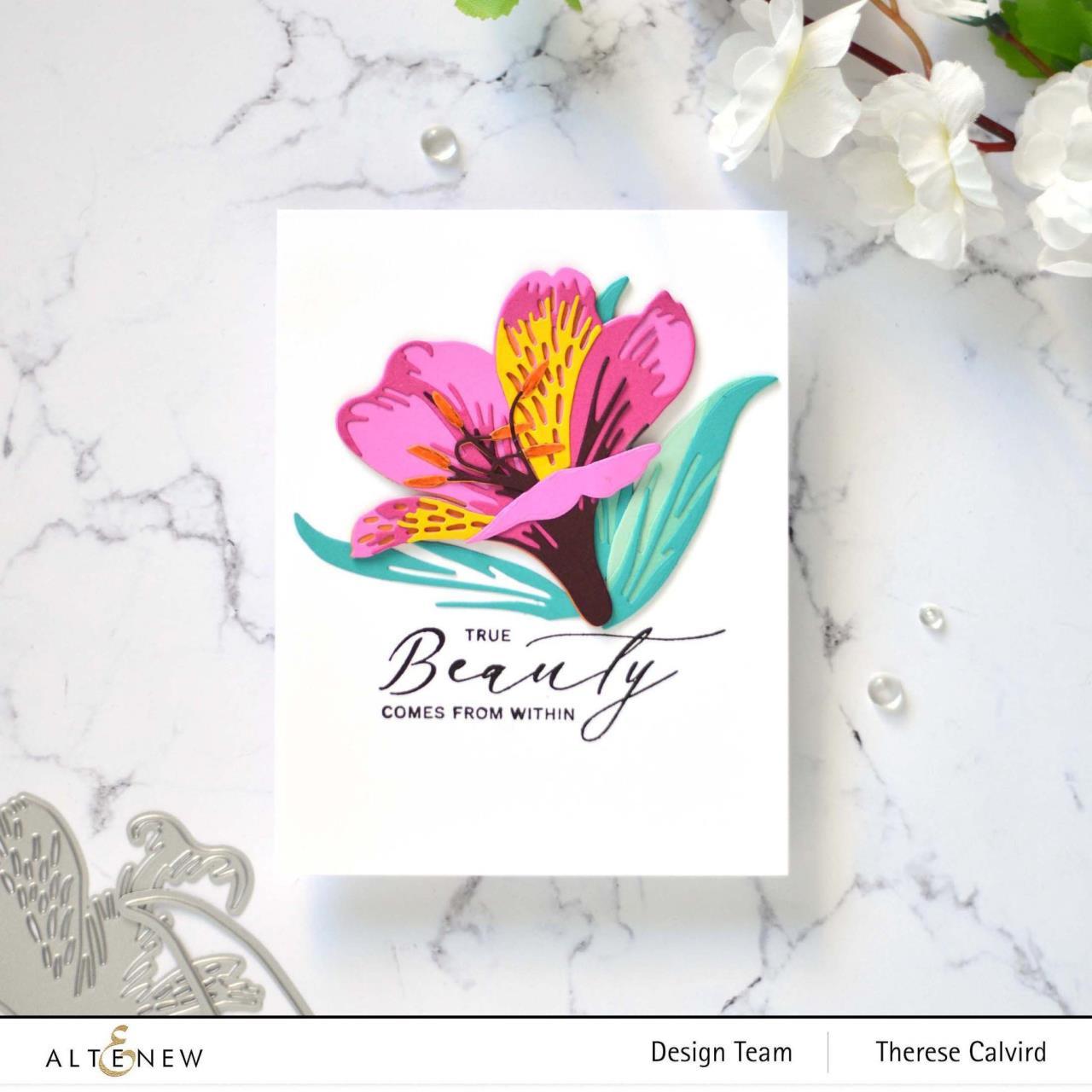 Craft-A-Flower: Peruvian Lily, Altenew Dies -