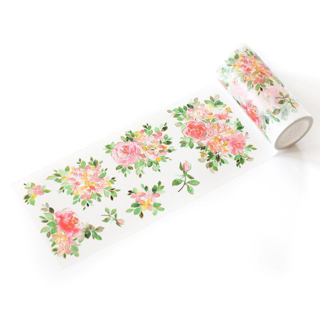 Hydrangea and Rose, Pinkfresh Studio Washi Tape -