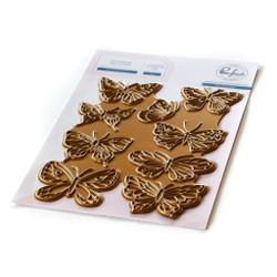 Small Butterflies, Pinkfresh Studio Hot Foil Plate -
