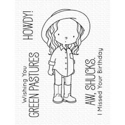 Green Pastures by Birdie Brown, My Favorite Things Clear Stamps -