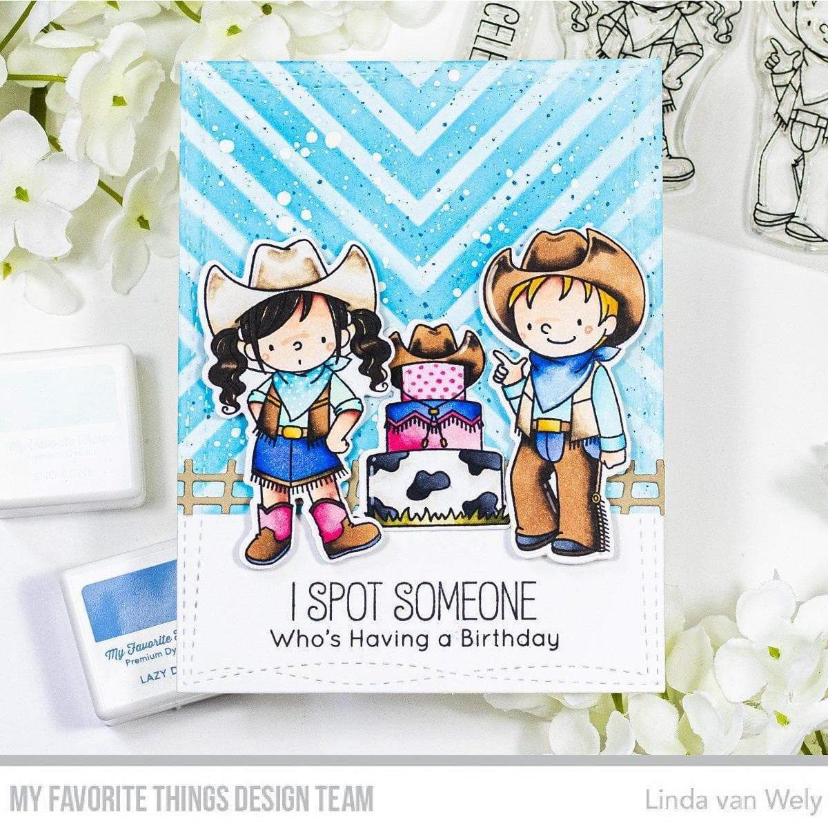 Saddle Up & Celebrate by Birdie Brown, My Favorite Things Clear Stamps -