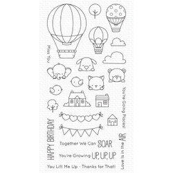 Up in the Air by Birdie Brown, My Favorite Things Clear Stamps -