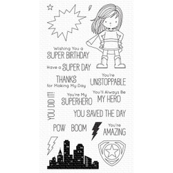 You're Super by Birdie Brown, My Favorite Things Clear Stamps -