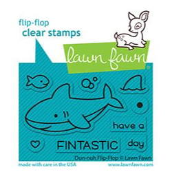 Duh-Nuh Flip-Flop, Lawn Fawn Clear Stamps -