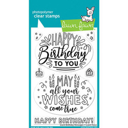 Giant Birthday Messages, Lawn Fawn Clear Stamps -