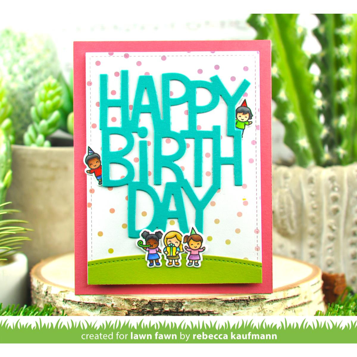 Tiny Birthday Friends, Lawn Fawn Clear Stamps -