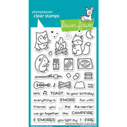 S'more the Merrier, Lawn Fawn Clear Stamps -