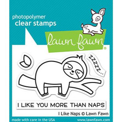 I Like Naps, Lawn Fawn Clear Stamps -