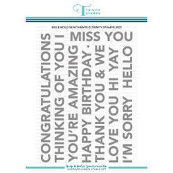 Big & Bold Sentiments, Trinity Stamps Clear Stamps -