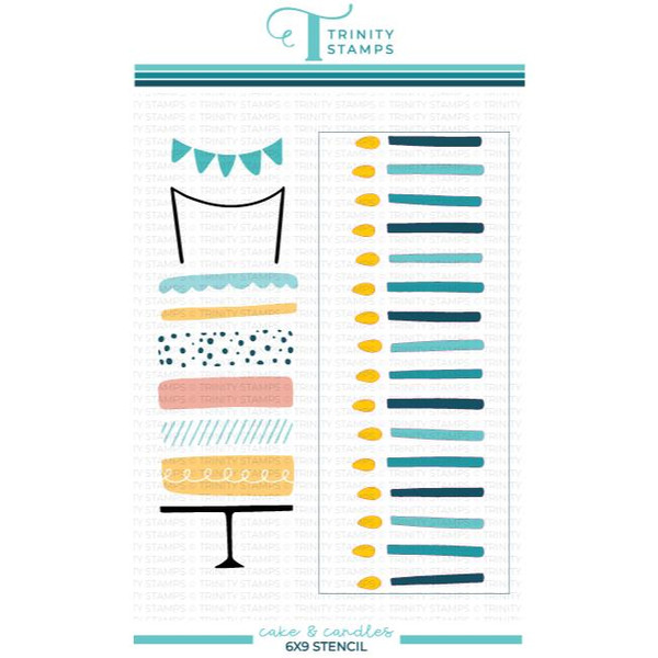 Cake and Candles, Trinity Stamps Stencils -