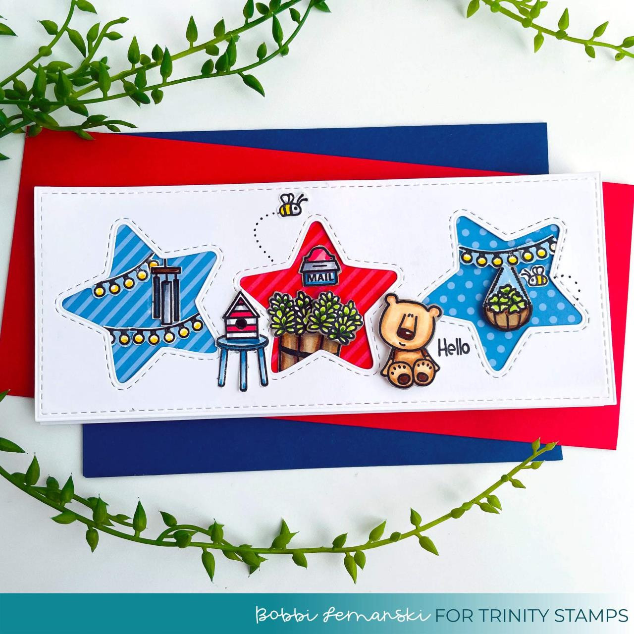 Cozy Cottage Porch, Trinity Stamps Clear Stamps -
