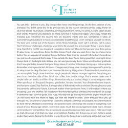 Encouragement Text Background, Trinity Stamps Cling Stamps -