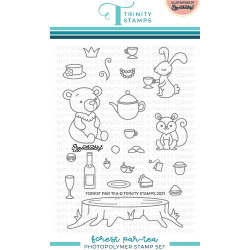 Forest Par-TEA, Trinity Stamps Clear Stamps -