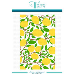 Lemon and Leaves Layering, Trinity Stamps Stencils -