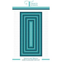 Mini Slimline Stitched Layers Stack, Trinity Stamps Dies -