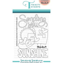 Sending Sunshine, Trinity Stamps Clear Stamps -