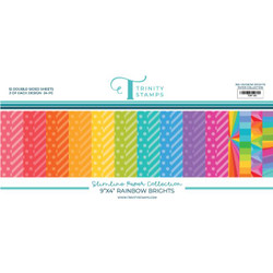 Slimline Series: Rainbow Brights, Trinity Stamps Patterned Paper -