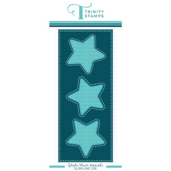 Slimline Star Trio Panel, Trinity Stamps Dies -