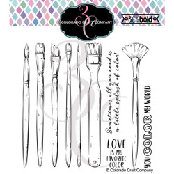 Color My World, Colorado Craft Company Clear Stamps -