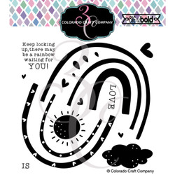 Build a Rainbow, Colorado Craft Company Clear Stamps -