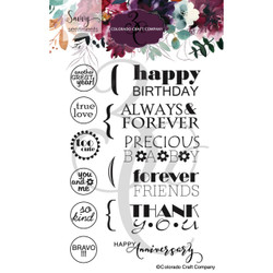 General Greetings, Colorado Craft Company Clear Stamps -