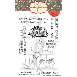 Summertime Birthday, Colorado Craft Company Clear Stamps -