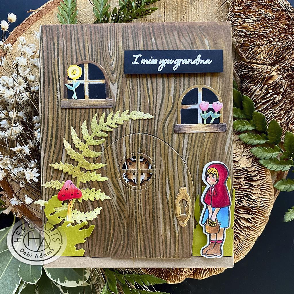 Woodgrain Bold Prints, Hero Arts Cling Stamps -