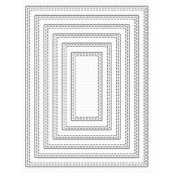 A2 Double Stitched Rectangle STAX, My Favorite Things Die-Namics -