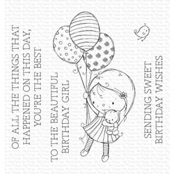 Beautiful Birthday Girl by Rachelle Anne Miller, My Favorite Things Clear Stamps -