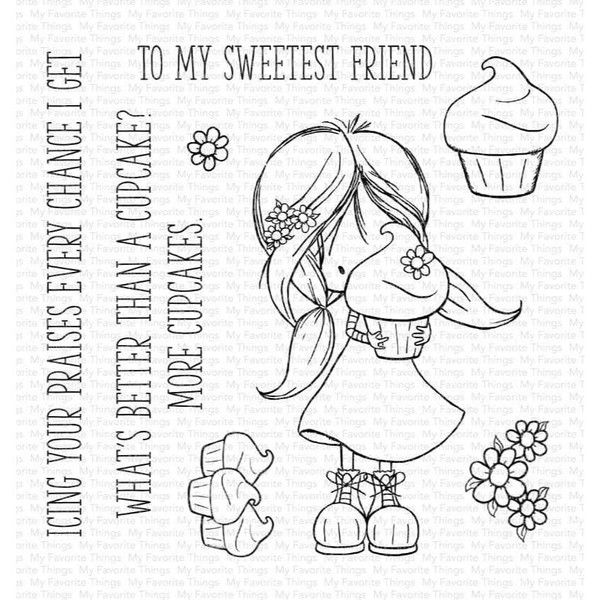 Cupcake Cutie by Tiddly Inks, My Favorite Things Clear Stamps -