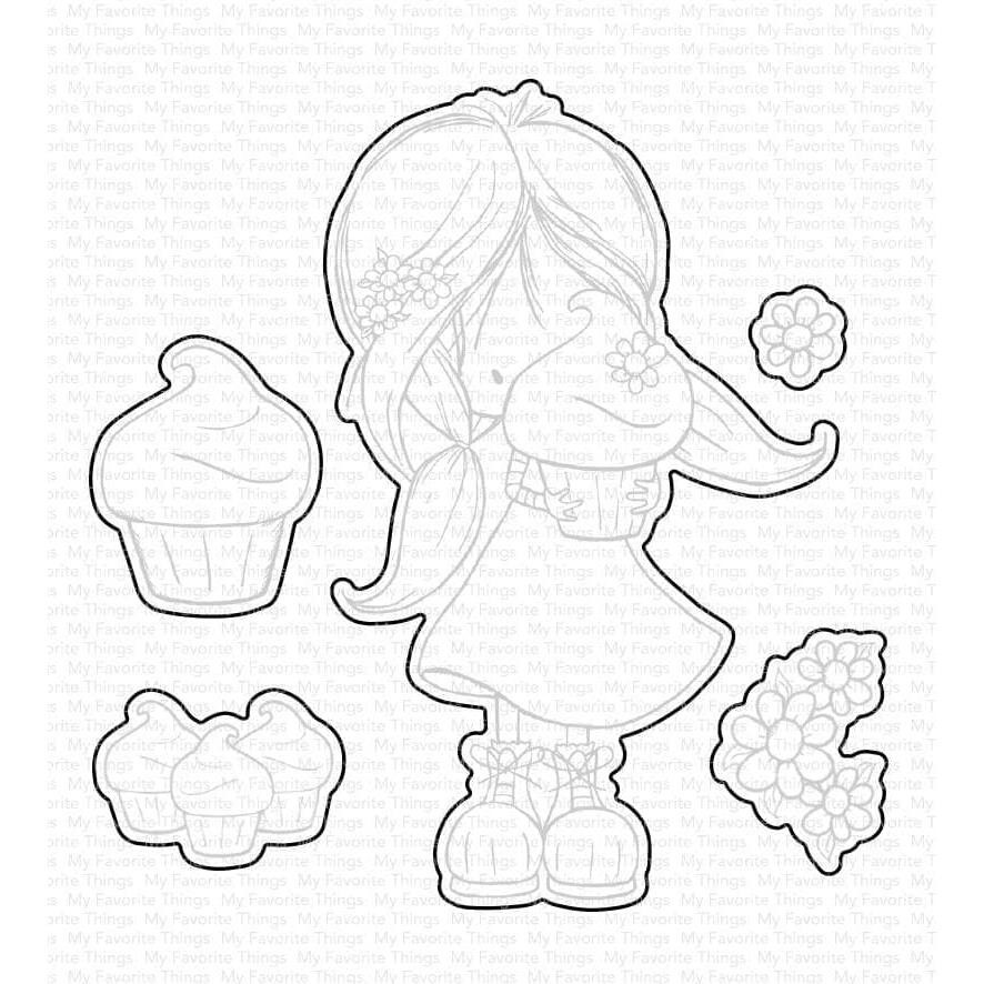 Cupcake Cutie by Tiddly Inks, My Favorite Things Die-Namics -