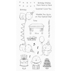 Penguin Party by Stacey Yacula, My Favorite Things Clear Stamps -