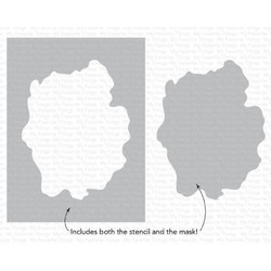 Watercolor Wash Free Form, My Favorite Things Stencils -