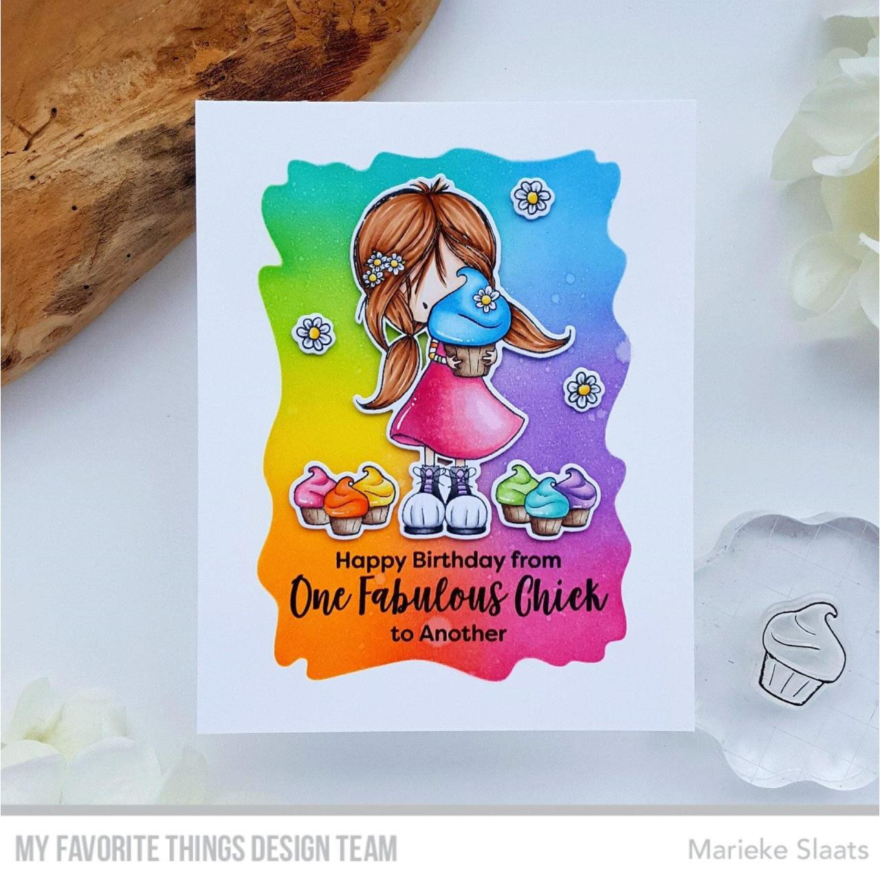 Watercolor Wash Rectangle, My Favorite Things Stencils -