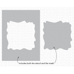 Watercolor Wash Square, My Favorite Things Stencils -