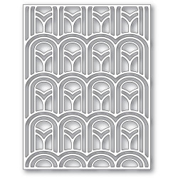 Arched Deco Plate, Poppystamps Dies -