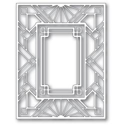 Geometric Deco Plate, Poppystamps Dies -