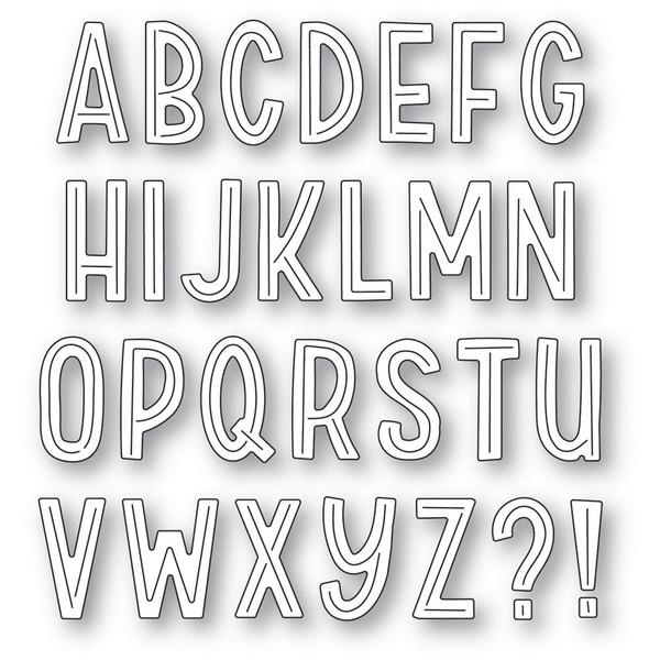 Marzipan Alphabet, Poppystamps Dies -