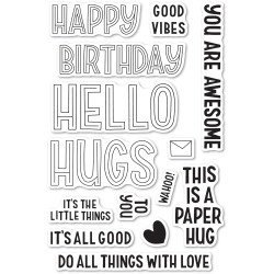 Marzipan Greetings, Poppystamps Clear Stamps -