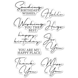 Signature Greetings, Memory Box Clear Stamps -
