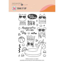 Summer of Stamping Soak It Up Clear Stamps by Avery Elle -