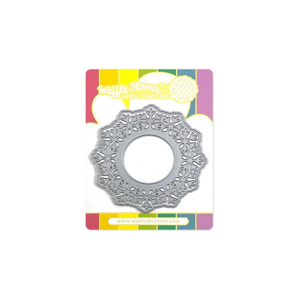 Circle Snowflake Shaker, Waffle Flower Dies -