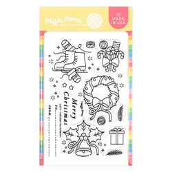 Christmas Tag Elements, Waffle Flower Clear Stamps -