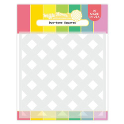 Duo-tone Squares, Waffle Flower Stencils -