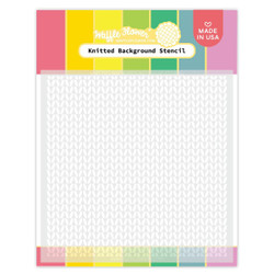 Knitted Background, Waffle Flower Stencils -