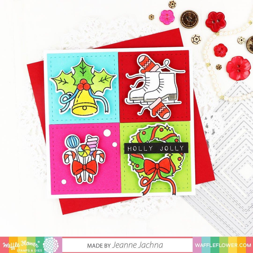 Labelmaker Holiday, Waffle Flower Stamp & Die Combo -