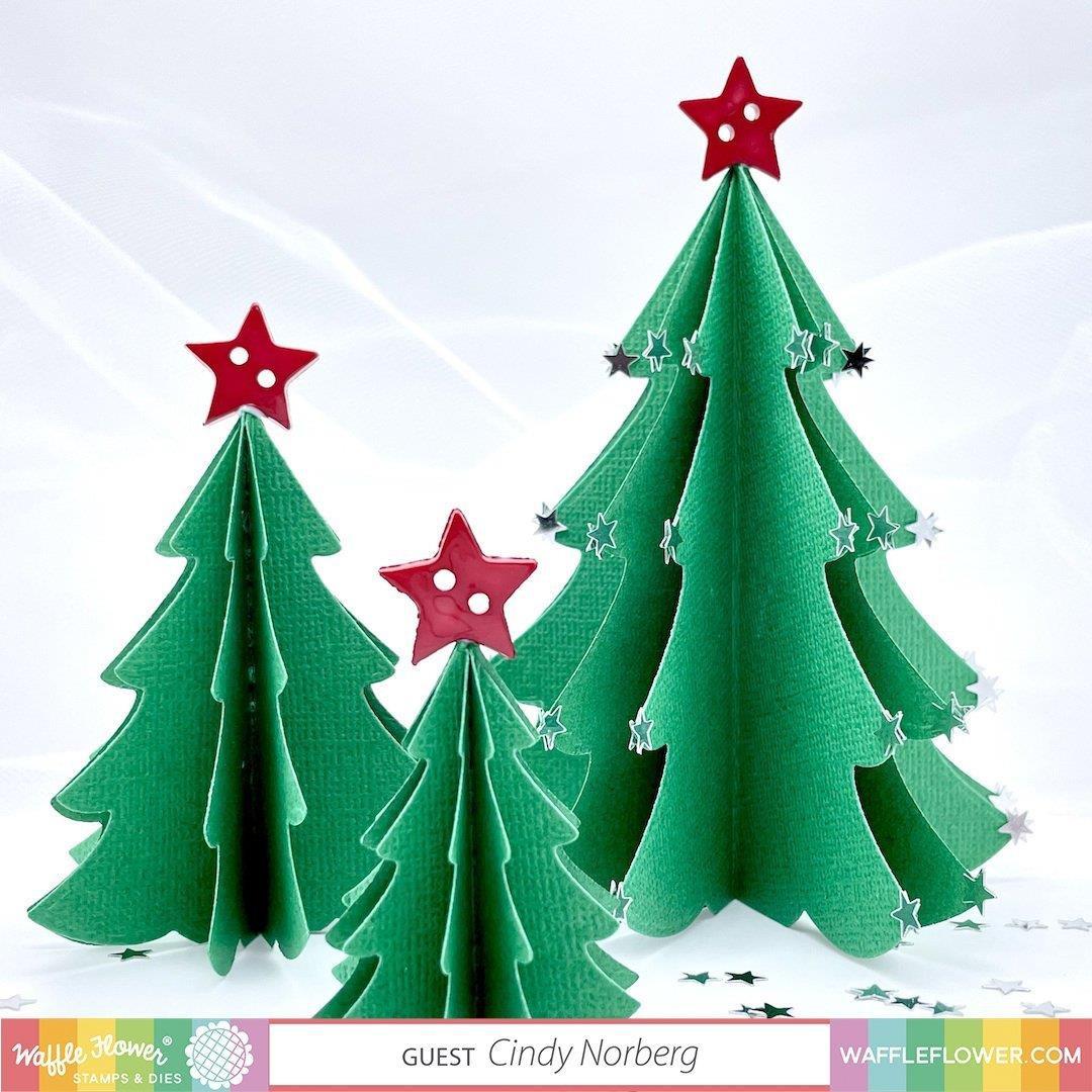 Nesting Christmas Tree, Waffle Flower Dies -