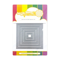 Nesting Stitched Squares, Waffle Flower Dies -